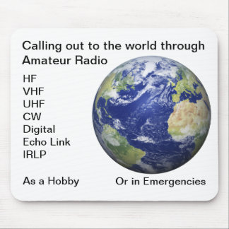 Amateur Radio World Mouse Pad