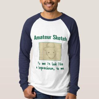 Amateur Sketch: To Me It Look Like a Leprechaun Shirts