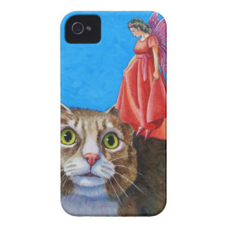Amazed Cat with Red Fairy iPhone 4 Case-Mate Cases