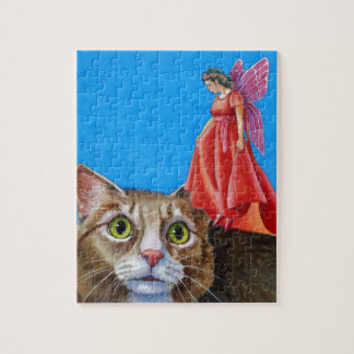 Amazed Cat with Red Fairy Puzzle