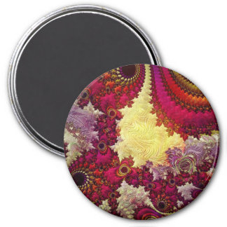 amazing Abstract fractal geometry 3 Inch Round Magnet