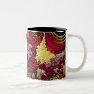 amazing Abstract fractal geometry Two-Tone Coffee Mug
