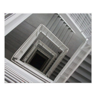 Amazing abstract staircase photograph poster