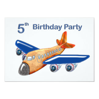 Amazing Airplane 5th Birthday Card