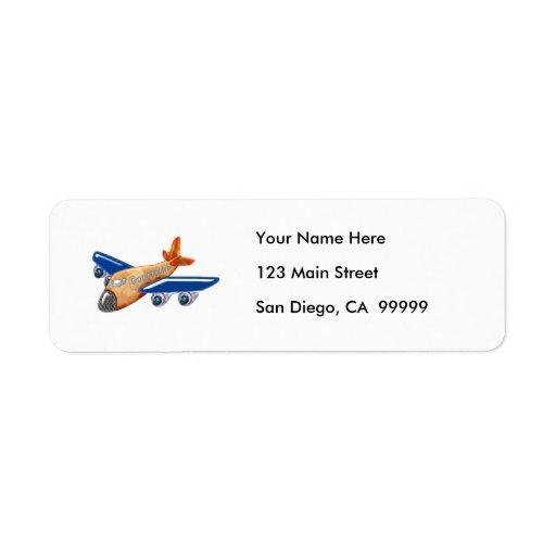 Amazing Airplane Return Address Label