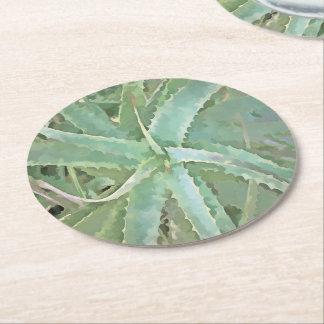 Amazing Aloe Vera Round Paper Coaster