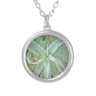 Amazing Aloe Vera Silver Plated Necklace