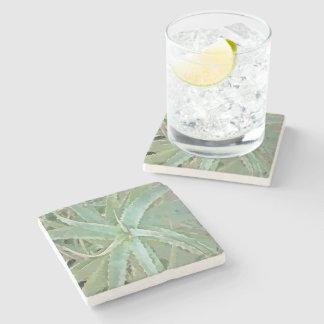 Amazing Aloe Vera Stone Beverage Coaster