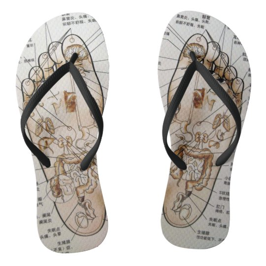 Amazing Ancient Acupuncture Flip Flops