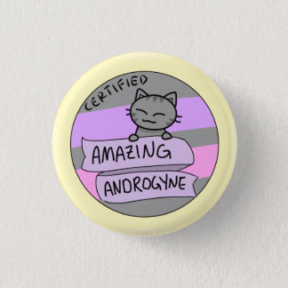 Amazing Androgyne 1 Inch Round Button
