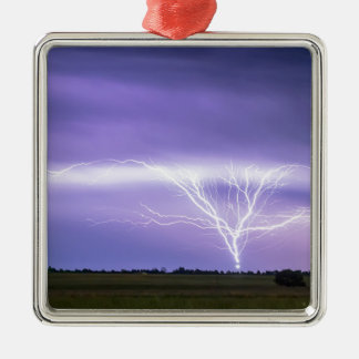 AMAZING Anvil Lightning Creepy Crawlers Silver-Colored Square Ornament