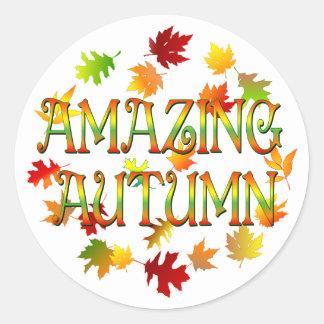 Amazing Autumn Classic Round Sticker
