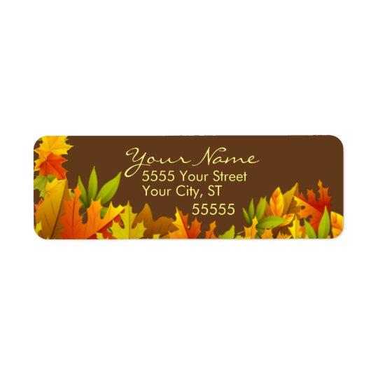 Amazing Autumn Custom Return Address Labels