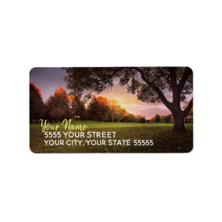 Amazing Autumn Sunset Custom Address Labels