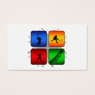 Amazing Badminton Urban Style Business Card