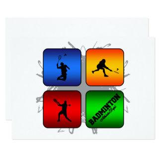 Amazing Badminton Urban Style Card