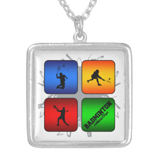 Amazing Badminton Urban Style Silver Plated Necklace