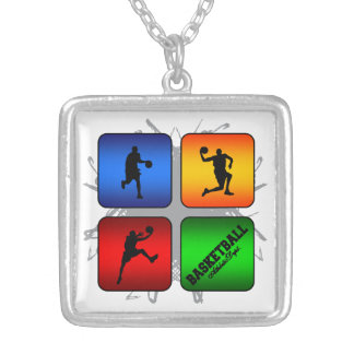 Amazing Basketball Urban Style Silver Plated Necklace