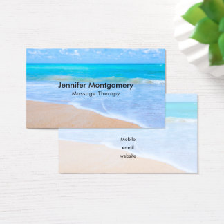 Amazing Beach Tropical Scene Photo Business Card
