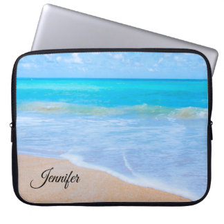 Amazing Beach Tropical Scene Photo Laptop Sleeve