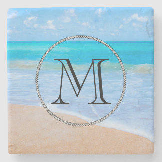 Amazing Beach Tropical Scene Photo Stone Coaster