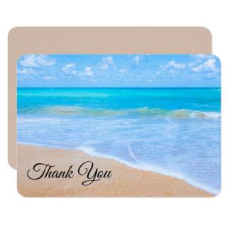Amazing Beach Tropical Scene Photo Thank You Card