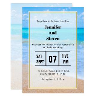 Amazing Beach Tropical Scene Photo Wedding Invite