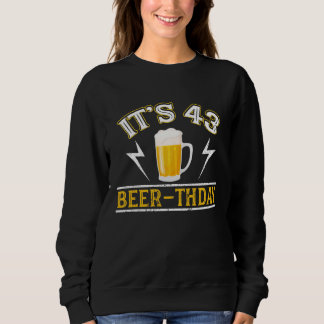 Amazing Beer T-Shirt For 43 Years Old.