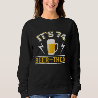 Amazing Beer T-Shirt For 74 Years Old.