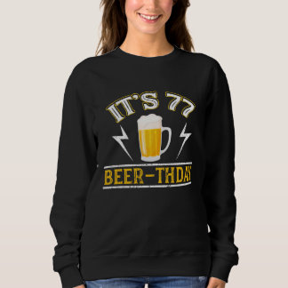 Amazing Beer T-Shirt For 77 Years Old.