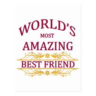 Amazing Best Friend Postcard