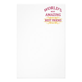 Amazing Best Friend Stationery