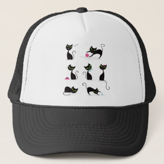 Amazing black Cats edition on white Trucker Hat