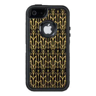Amazing Black-Gold Art Deco Design OtterBox Defender iPhone Case