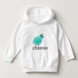 Amazing - blue bird hoodie