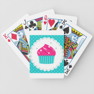 Amazing blue Cupcake pink blue Bicycle Playing Cards