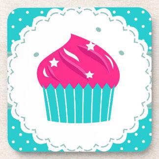Amazing blue Cupcake pink blue Coaster