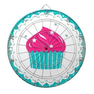 Amazing blue Cupcake pink blue Dartboard