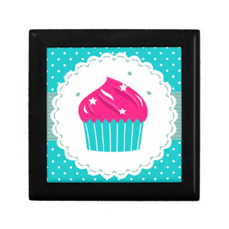 Amazing blue Cupcake pink blue Gift Box