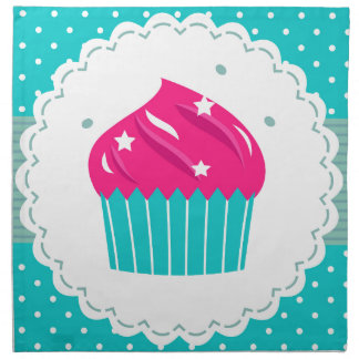Amazing blue Cupcake pink blue Napkin