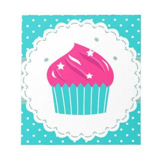 Amazing blue Cupcake pink blue Notepad