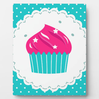 Amazing blue Cupcake pink blue Plaque