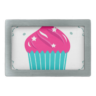 Amazing blue Cupcake pink blue Rectangular Belt Buckles