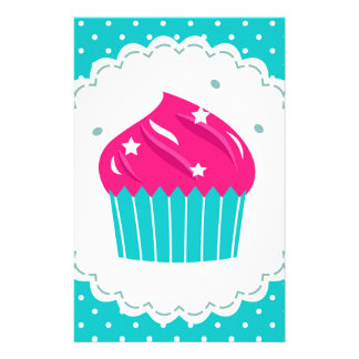 Amazing blue Cupcake pink blue Stationery