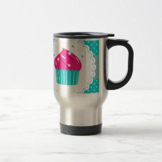 Amazing blue Cupcake pink blue Travel Mug