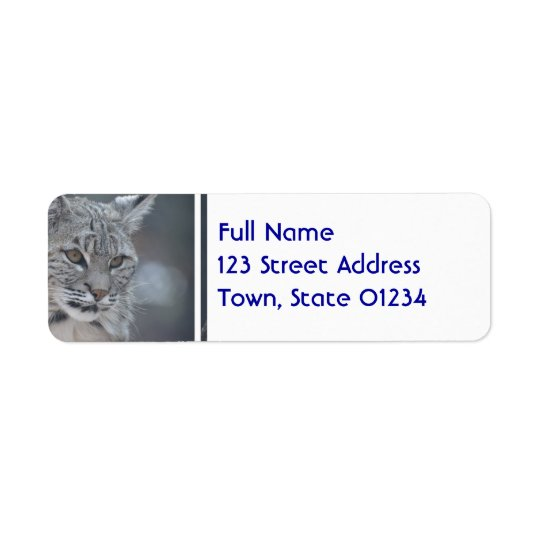 Amazing Bobcat Return Address Label