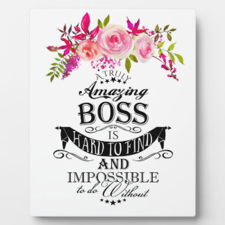 "Amazing Boss THANK YOU BOSS ""awesome boss Plaque"