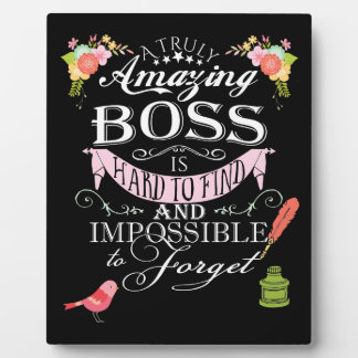Amazing boss thank  you plaque