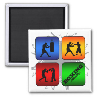 Amazing Boxing Urban Style Square Magnet