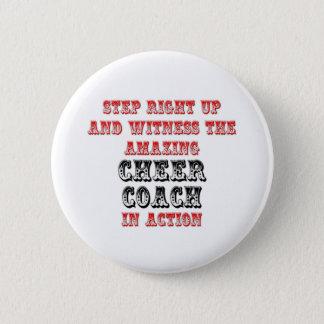 Amazing Cheer Coach In Action 2 Inch Round Button